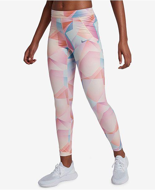 868f10f7fbedd Nike Speed Printed Running Ankle Leggings & Reviews - Pants & Capris ...