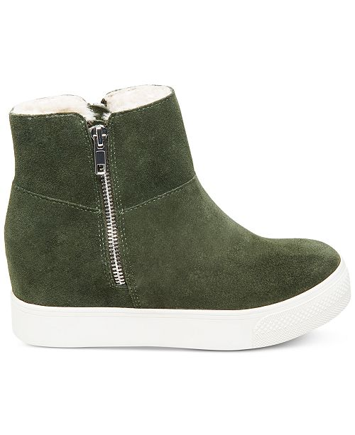 4614291f178 Steve Madden Wanda Faux-Fur Wedge Sneakers   Reviews - Sneakers ...