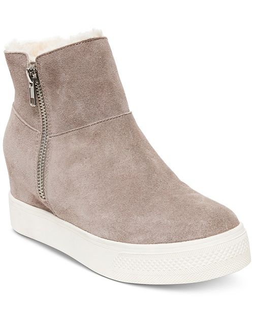 b2ca02d89b6 Steve Madden Wanda Faux-Fur Wedge Sneakers & Reviews - Athletic ...