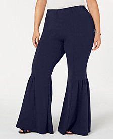 NY Collection Plus Size & Petite Plus Bell-Bottom Pants