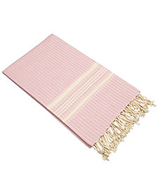 Linum Home Luxe Herringbone Pestemal Beach Towel