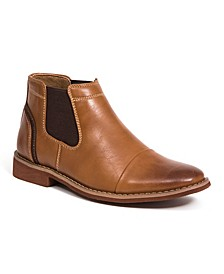 Little and Big Boys Marcus Memory Foam Dress Comfort Cap Toe Chelsea Boot
