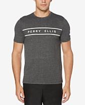 d9a506dc48 Perry Ellis Men s Heather Logo Graphic T-Shirt