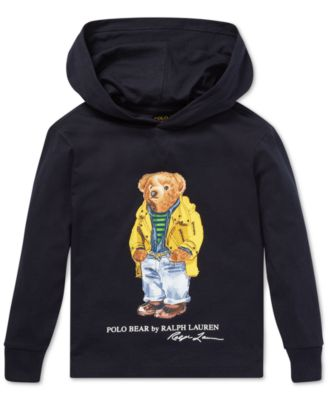 f42df90d Finders | Toddler Boys Polo Bear Hooded Long-Sleeve Cotton T ...
