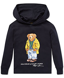 Polo Ralph Lauren Toddler Boys Polo Bear Hooded Long-Sleeve Cotton T-Shirt