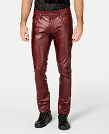 I.N.C. Men's Faux Leather Skinny Jeans, Created for Macy's