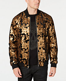 I.N.C. Men's Floral Velvet Sequin Bomber, Created for Macy's