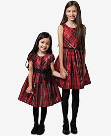 Bonnie Jean Toddler, Little & Big Girls Metallic Plaid Dress