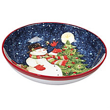 Certified International Starry Night Snowman Serving/Pasta Bowl