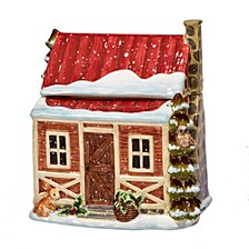 Winter Lodge 3-D Cookie Jar Cabin