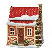 Certified International Winter Lodge 3-D Cookie Jar Cabin