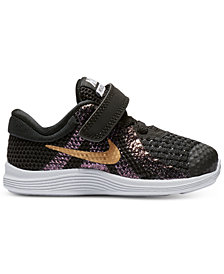 Nike Toddler Girls' Revolution 4 Shield Athletic Sneakers from Finish Line