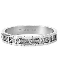 CHARRIOL 4Ever Loved Bangle Bracelet in Stainless Steel