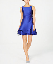 Adrianna Papell Petite Bow-Back Fit & Flare Dress