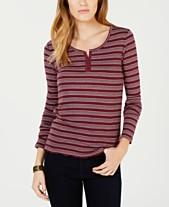 ee54ff142d4bcd Hippie Rose Juniors  Striped Henley T-Shirt