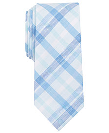 Bar III Men's Whitehaven Plaid Skinny Tie, Created for Macy's