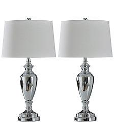 StyleCraft Set of 2 Chrome Sleek Table Lamps