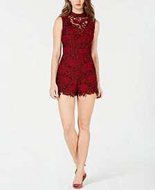 GUESS Teegan Allover-Lace Romper