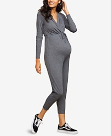 Motherhood Maternity Wrap Maternity Jumpsuit