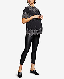 A Pea In The Pod Maternity Faux-Leather Leggings