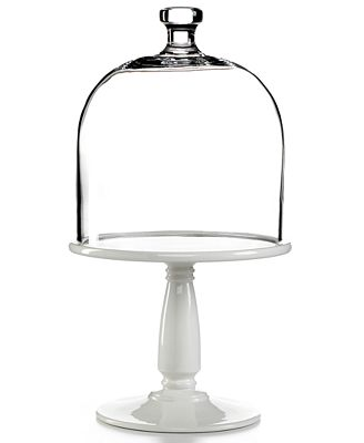 CLOSEOUT! Martha Stewart Collection Serveware, Bell Jar Cake Stand with Dome
