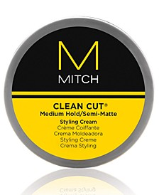 Mitch Clean Cut Medium Hold/Semi-Matte Styling Cream, 3-oz., from PUREBEAUTY Salon & Spa