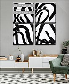 Ready2HangArt 'Lines I-IV' 4 Piece Shape Canvas Wall Art Set Collection