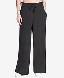 DKNY Sport Ruffled Wide-Leg Pants, Created for Macy's