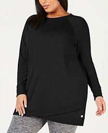 Ideology Plus Size Tulip-Hem Tunic, Created for Macy's