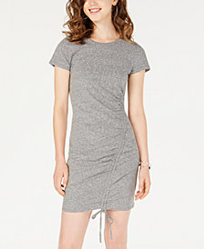 Material Girl Juniors' Ruched T-Shirt Dress, Created for Macy's
