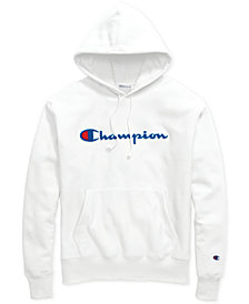 Champion Men's Script-Logo Fleece Hoodie