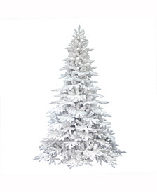 Vickerman 4.5 ft Flocked White Spruce Artificial Christmas Tree Unlit