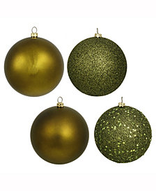 "Vickerman 2.4"" Olive 4-Finish Ball Christmas Ornament, 24 Per Box"