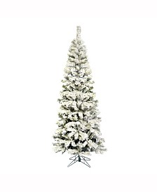 Vickerman 6.5 ft Flocked Pacific Artificial Christmas Tree Unlit