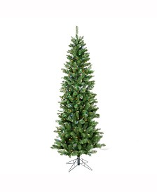 Vickerman 5.5 ft Salem Pencil Pine Artificial Christmas Tree With 200 Multi-Colored Led Lights