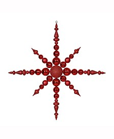 "43"" Red 3-Finish Snowflake Christmas Ornament"