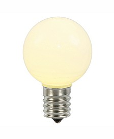 Warm White Ceramic G50 Led Replacement Bulb, 5 Per Bag