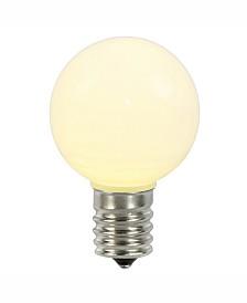 Vickerman Warm White Ceramic G50 Led Replacement Bulb, 5 Per Bag