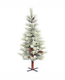 Vickerman 4.5 ft Frosted Bellevue Alpine Artificial Christmas Tree Unlit