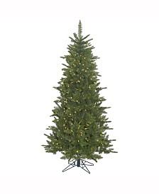 Vickerman 7.5 ft Durango Spruce Slim Artificial Christmas Tree With 700 Warm White Led Lights