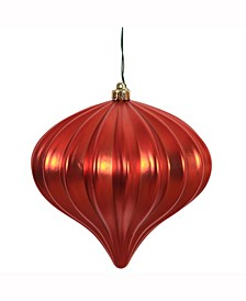 "5.7"" Red Matte Onion Christmas Ornament"