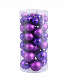 "Vickerman 1.5""-2"" Purple Shiny/Matte Ball Christmas Ornament"