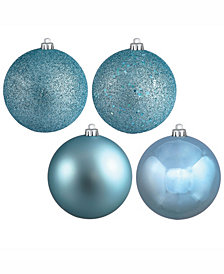 "Vickerman 2.4"" Baby Blue 4-Finish Ball Christmas Ornament, 24 Per Box"