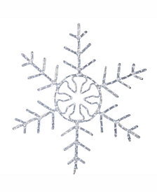"Vickerman 60"" Forked Snowflake Christmas Ornament With 400 Pure White Led Lights"