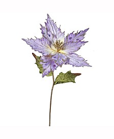 """26"""" Violet Velvet Poinsettia Artificial Christmas Pick, 3 Per Bag"""