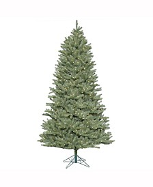 7.5 ft Colorado Spruce Slim Artificial Christmas Tree With 800 Warm White Led Lights
