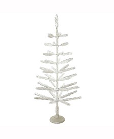 4' Silver Feather Artificial Christmas Tree Unlit