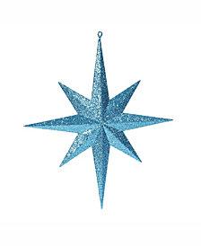 "Vickerman 15.75"" Turquoise Glitter Bethlehem Star Christmas Ornament"