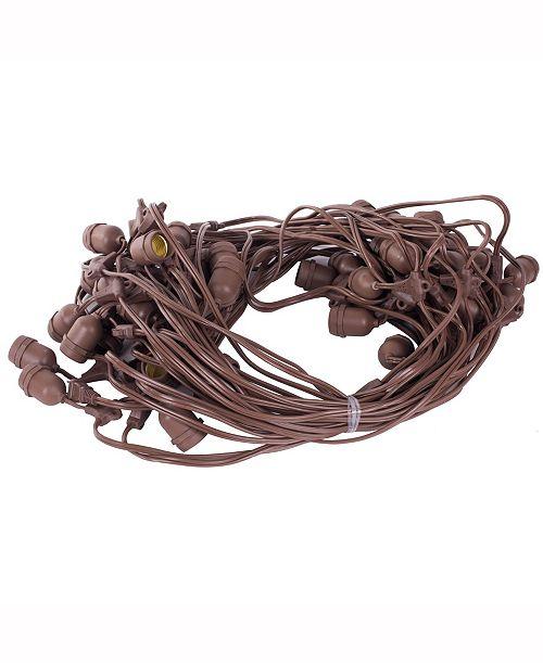 Vickerman 24 Medium Base E26 Socket Set Spt2 16Ga Brown Wire