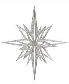 "Vickerman 32"" Silver Iridescent Star Christmas Ornament"